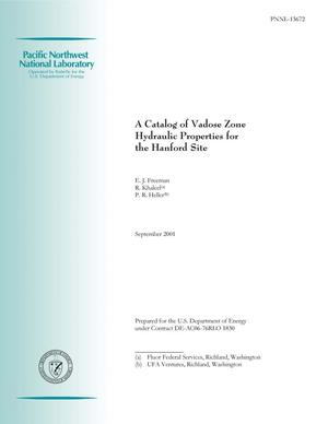 Primary view of object titled 'A Catalog of Vadose Zone Hydraulic Properties for the Hanford Site'.