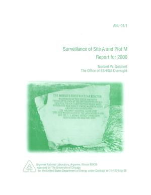 Primary view of object titled 'Surveillance of site A and plot M - report for 2000.'.