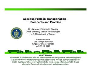 Primary view of object titled 'Gaseous Fuels in Transportation -- Prospects and Promise'.