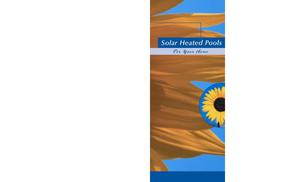 Primary view of object titled 'Solar Heated Pools for Your Home'.