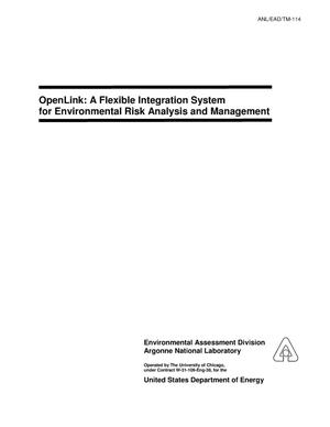 Primary view of object titled 'OpenLink : a flexible integration system for environmental risk analysis and management.'.