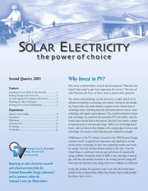 Primary view of Solar Electricity: The Power of Choice, Second Quarter 2001