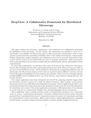 Primary view of object titled 'DeepView: A collaborative framework for distributed microscopy'.