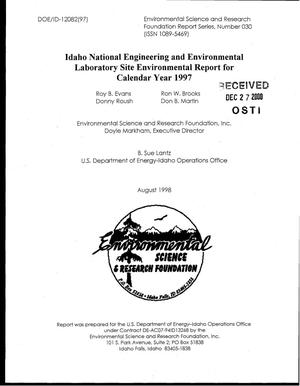 Primary view of object titled 'Idaho National Engineering and Environmental Laboratory Site Environmental Report for Calendar Year 1997'.