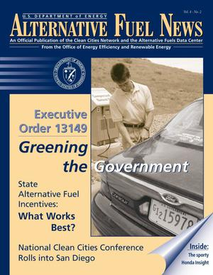 Primary view of object titled 'Alternative Fuel News: Official Publication of the Clean Cities Network and the Alternative Fuels Data Center, Vol. 4, No. 2'.