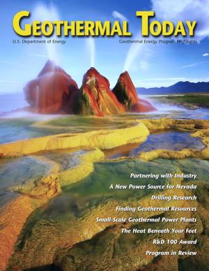 Primary view of object titled 'Geothermal Today: 2000 Geothermal Energy Program Highlights'.