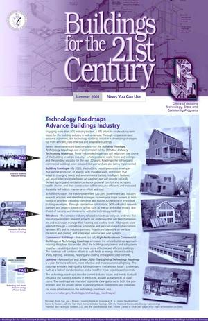 Primary view of object titled 'Buildings for the 21st Century, Summer 2001. Office of Building Technology, State and Community Programs (BTS) Newsletter'.