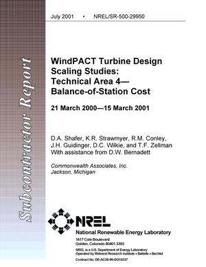 Primary view of object titled 'WindPACT Turbine Design Scaling Studies: Technical Area 4 -- Balance-of-Station Cost'.