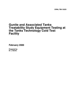 Primary view of object titled 'Gunite and Associated Tanks Treatability Study Equipment Testing at the Tanks Technology Cold Test Facility'.