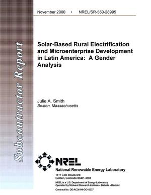 Primary view of object titled 'Solar-Based Rural Electrification and Micro-Enterprise Development in Latin America: A Gender Analysis'.