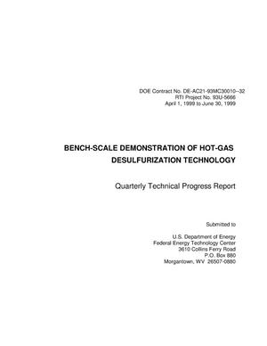 Primary view of object titled 'BENCH-SCALE DEMONSTRATION OF HOT-GAS DESULFURIZATION TECHNOLOGY'.