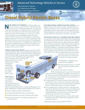 Primary view of object titled 'New York City Transit Diesel Hybrid Electric Buses'.