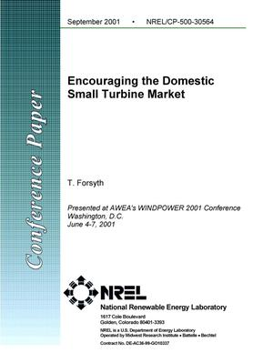 Primary view of object titled 'Encouraging the Domestic Small Turbine Market'.