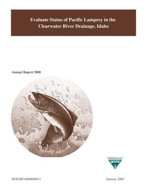 Primary view of object titled 'Evaluate Status of Pacific Lamprey in the Clearwater River Drainage, Idaho : Annual Report 2000.'.