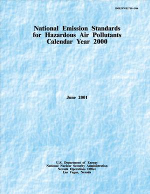 Primary view of object titled 'National Emission Standards for Hazardous Air Pollutants Calendar Year 2000'.