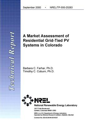 Primary view of object titled 'Market Assessment of Residential Grid-Tied PV Systems in Colorado'.