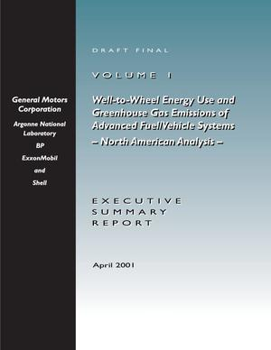 Primary view of object titled 'Well-to-wheel energy use and greenhouse gas emissions of advanced fuel/vehicle systems North American analysis.'.