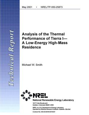 Primary view of object titled 'Analysis of the Thermal Performance of Tierra I--A Low-Energy High-Mass Residence'.