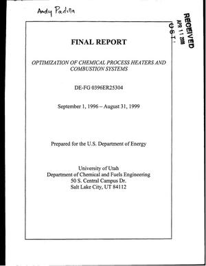 Primary view of object titled 'Final Report: Optimization of Chemical Process Heater and Combustion Systems, September 1, 1996 - August 31, 1999'.