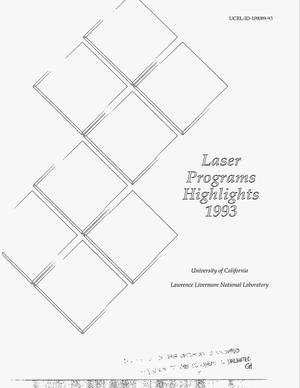 Primary view of object titled 'Laser programs highlights 1993'.
