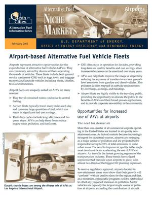Primary view of object titled 'Airport-Based Alternative Fuel Vehicle Fleets'.