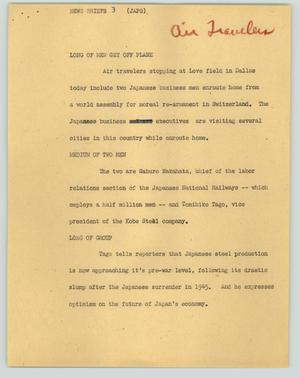 Primary view of object titled '[News Script: News Briefs 3]'.