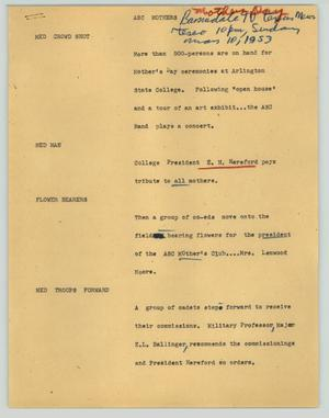 Primary view of [News Script: ASC mothers]