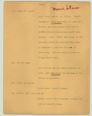 Primary view of object titled '[News Script: Stars]'.