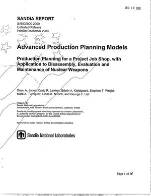 Primary view of object titled 'Advanced Production Planning Models'.