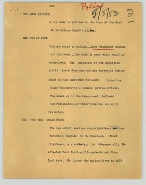 Primary view of object titled '[News Script: Pox]'.