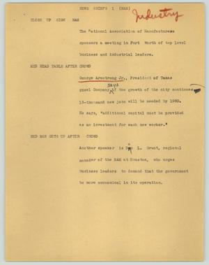 Primary view of object titled '[News Script: News briefs (NAM)]'.