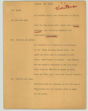 Primary view of object titled '[News Script: Lauritz and Hedda]'.