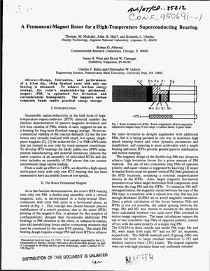 Primary view of object titled 'A permanent-magnet rotor for a high-temperature superconducting bearing'.