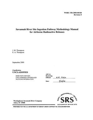 Primary view of object titled 'Savannah River Site Ingestion Pathway Methodology Manual for Airborne Radioactive Releases'.