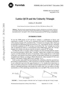 Primary view of object titled 'Lattice QCD and the unitarity triangle'.