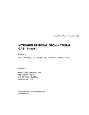 Primary view of object titled 'Nitrogen removal from natural gas: Phase II'.
