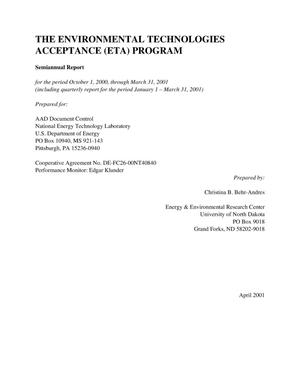 Primary view of object titled 'THE ENVIRONMENTAL TECHNOLOGIES ACCEPTANCE (ETA) PROGRAM'.
