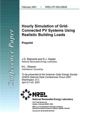 Primary view of object titled 'Hourly Simulation of Grid-Connected PV Systems Using Realistic Building Loads (Preprint)'.