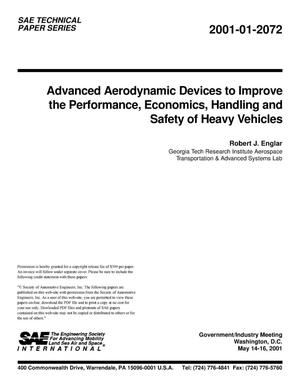 Primary view of object titled 'Advanced Aerodynamic Devices to Improve the Performance, Economics, Handling, and Safety of Heavy Vehicles'.