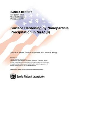 Primary view of object titled 'Surface Hardening by Nanoparticle Precipitation in Ni(Al,O)'.