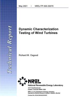 Primary view of object titled 'Dynamic Characterization Testing of Wind Turbines'.