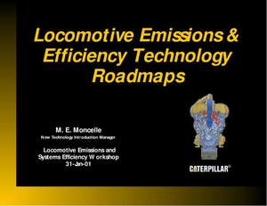 Primary view of object titled 'Locomotive Emissions and Efficiency Technology Roadmap'.