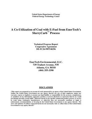 Primary view of object titled 'A CO-UTILIZATION OF COAL WITH E-FUEL FROM ENERTECH'S SLURRYCARBtm PROCESS'.