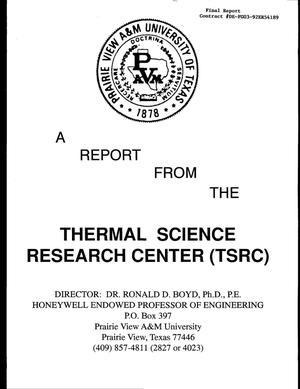 Primary view of object titled 'Final Report: Local Heat Transfer and CHF for Subcooled Flow Boiling, September 15, 1992 - May 14, 1998'.