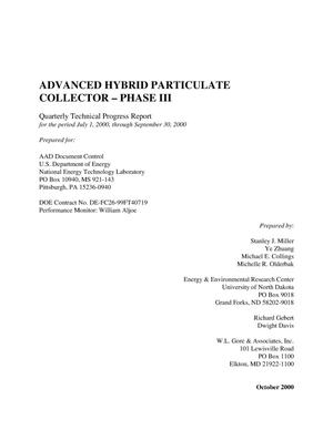 Primary view of object titled 'ADVANCED HYBRID PARTICULATE COLLECTOR - PHASE III'.