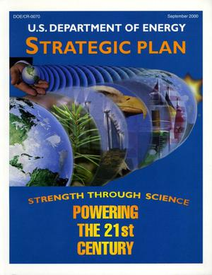 Primary view of object titled 'U.S. Department of Energy Strategic Plan: 2000'.