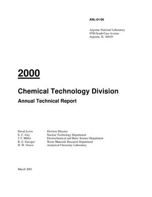 Primary view of object titled 'Chemical Technology Division Annual Report 2000.'.