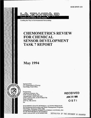 Primary view of object titled 'Chemometrics review for chemical sensor development, task 7 report'.
