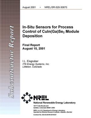 Primary view of object titled 'In-Situ Sensors for Process Control of CuIn(Ga)Se2 Module Deposition: Final Report, August 15, 2001'.