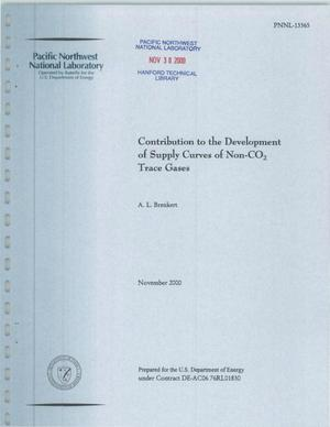 Primary view of object titled 'Contribution to the Development of Supply Curves of Non-CO2 Trace Gases'.
